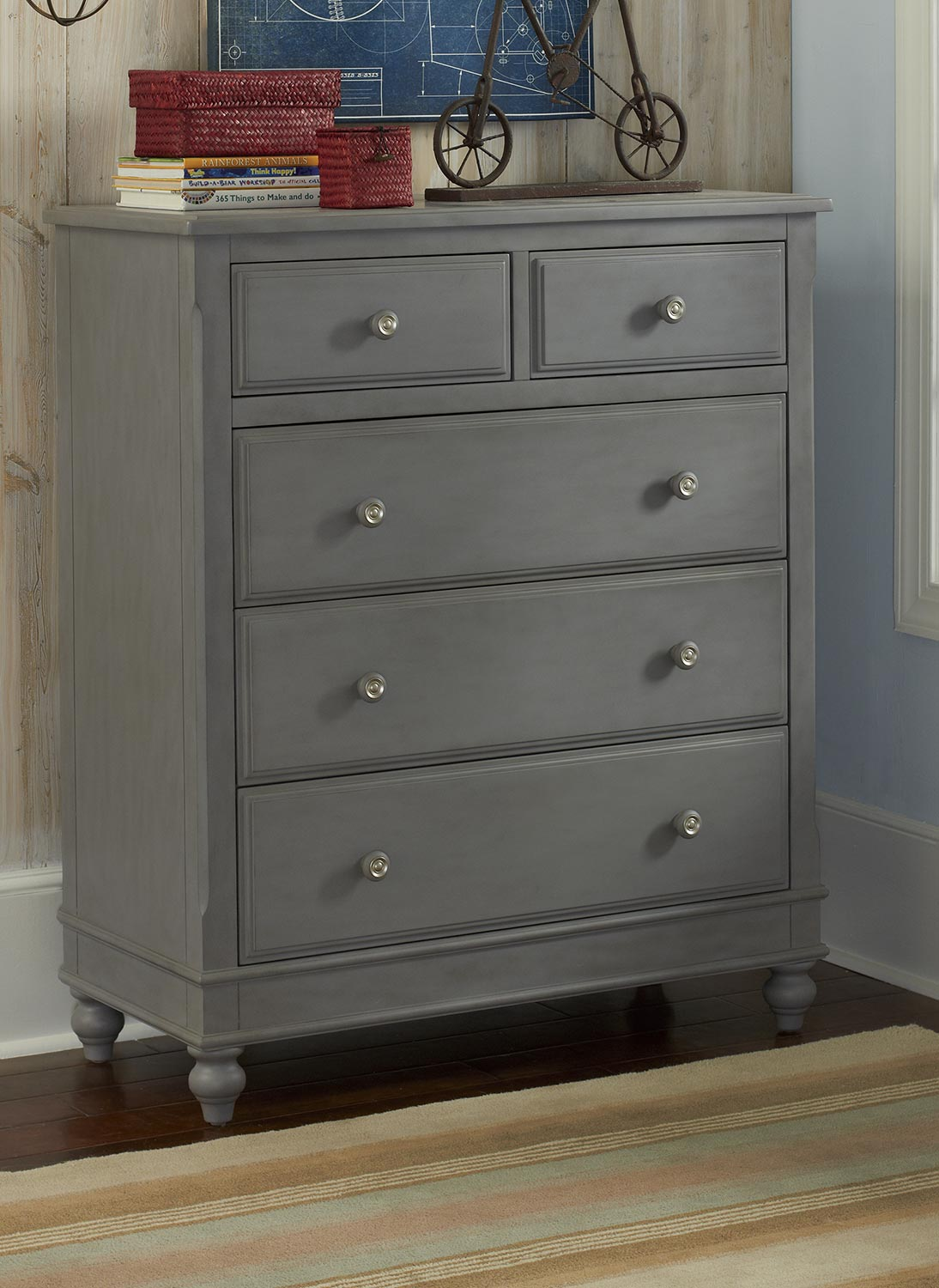 NE Kids Lake House 5 Drawer Chest - Stone