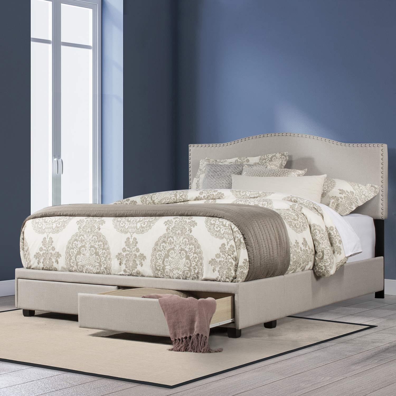 Hillsdale Kiley Upholstered Storage Bed - Fog Fabric