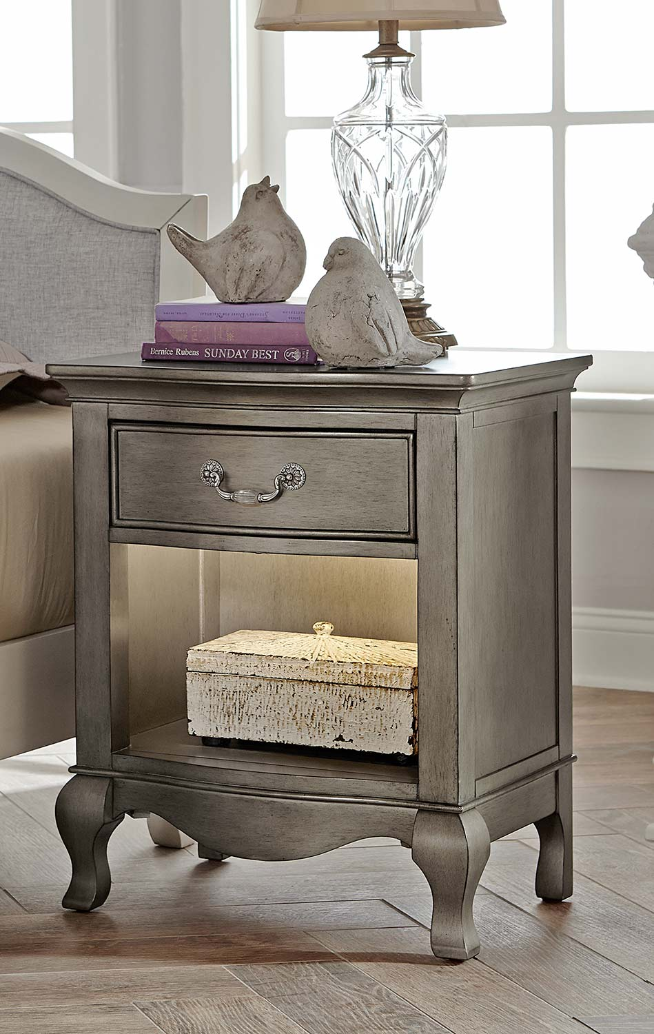 NE Kids Kensington Nightstand - Antique Silver