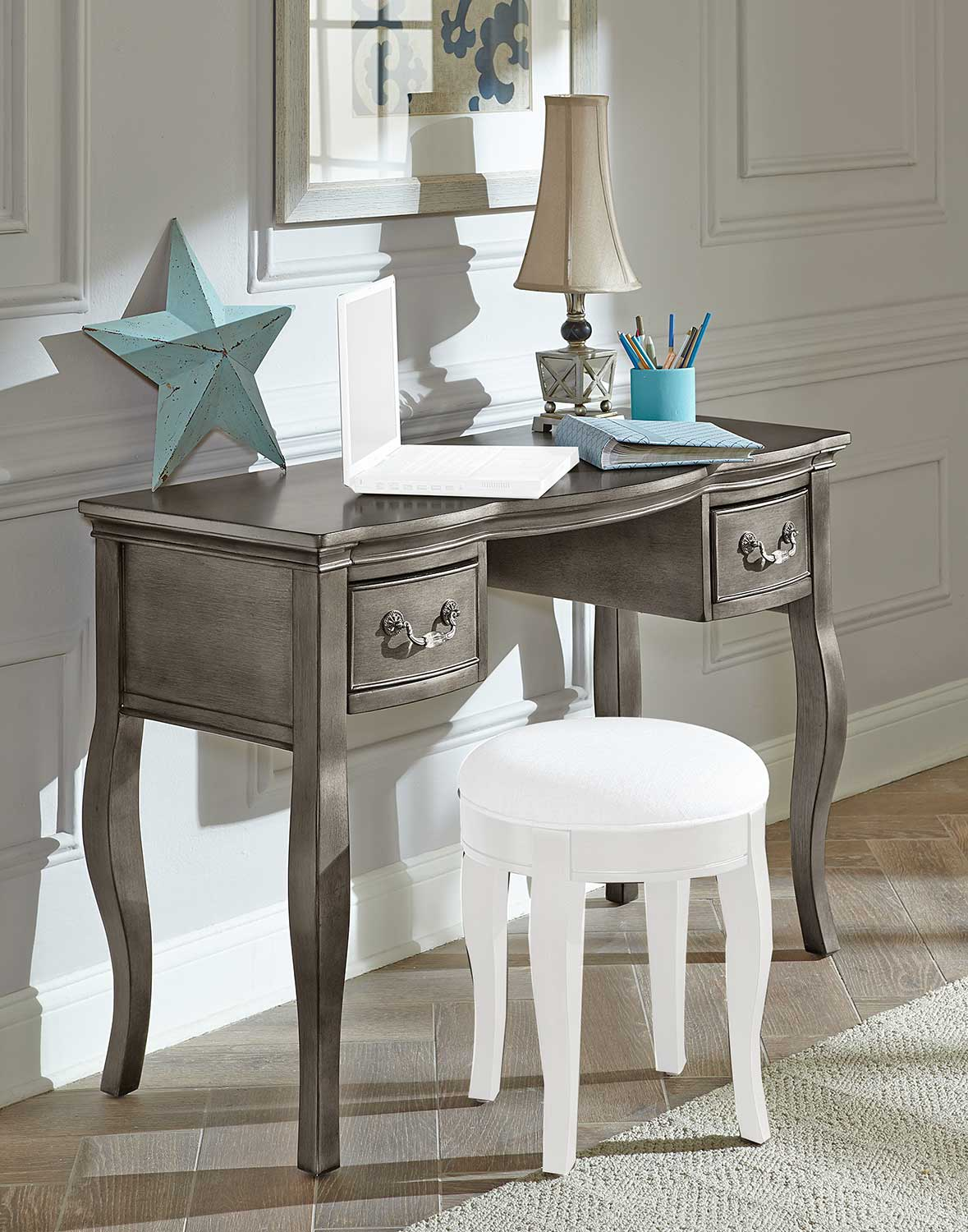 NE Kids Kensington Writing Desk - Antique Silver
