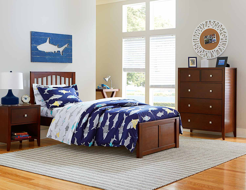 ne kids pulse mission bedroom set  cherry ne31011nbed