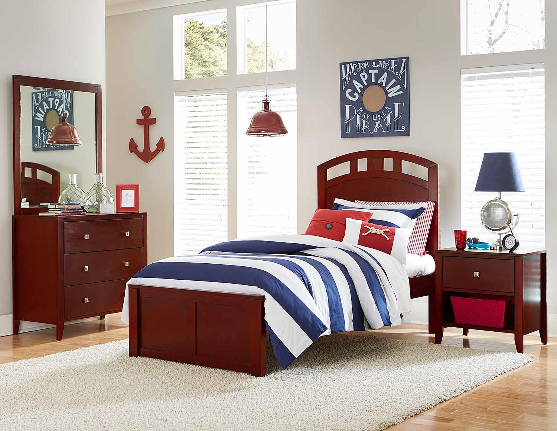 NE Kids Pulse Arch Bedroom Set - Cherry