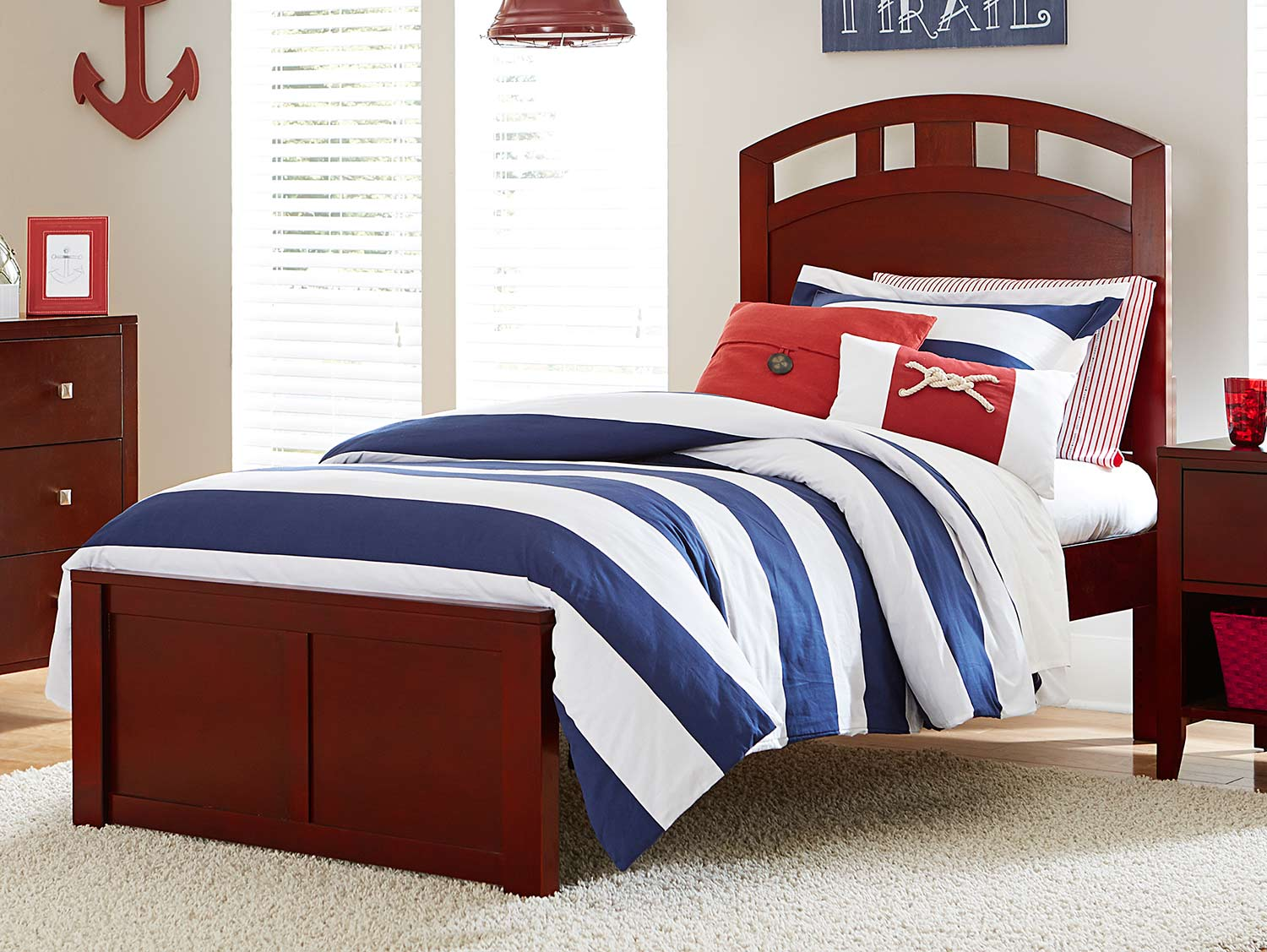 NE Kids Pulse Arch Bed - Cherry