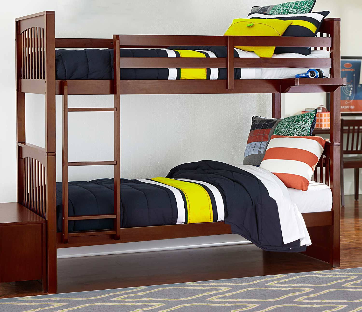NE Kids Pulse Twin Over Twin Bunk - Cherry