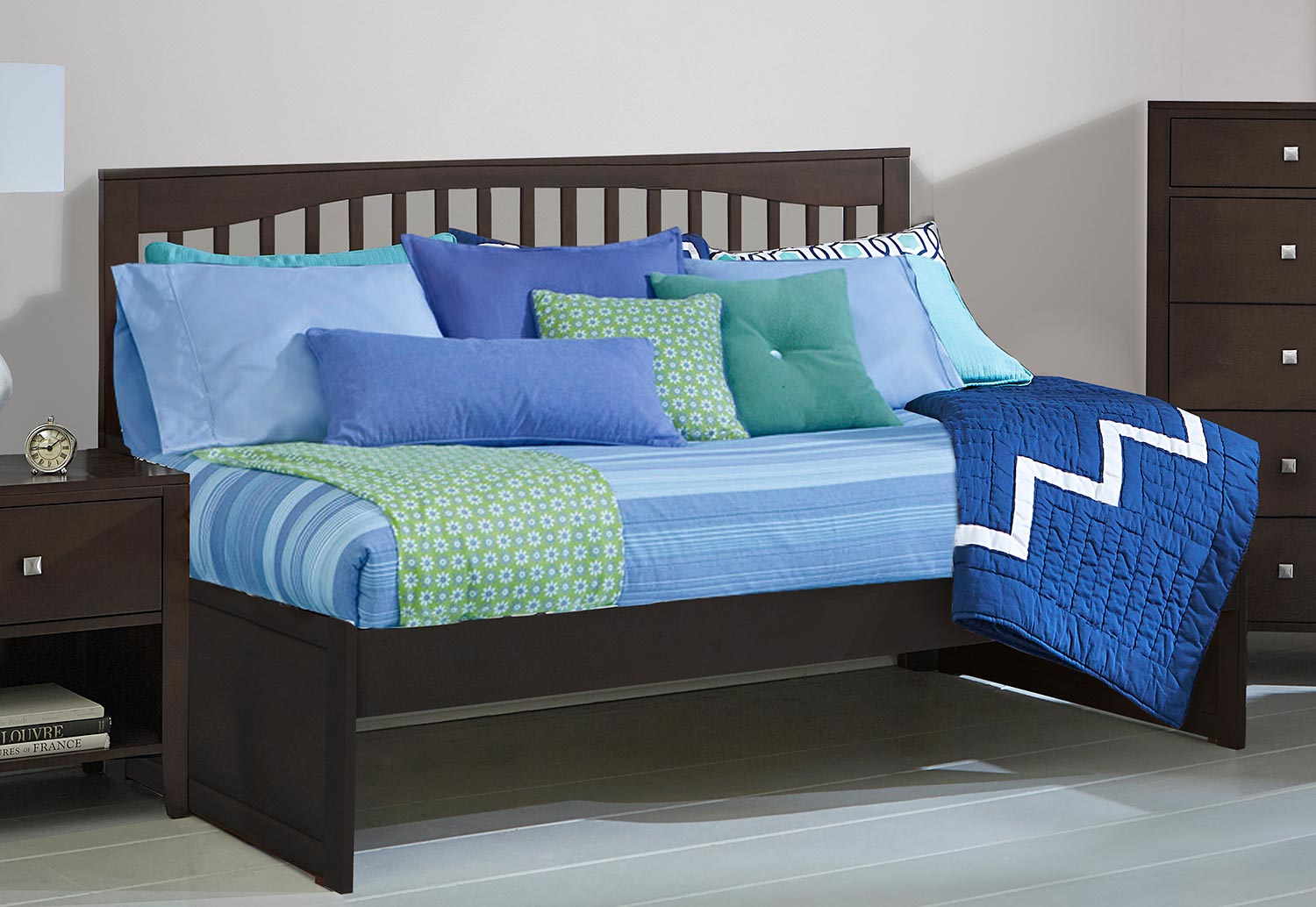 NE Kids Pulse Mission Twin Daybed - Chocolate