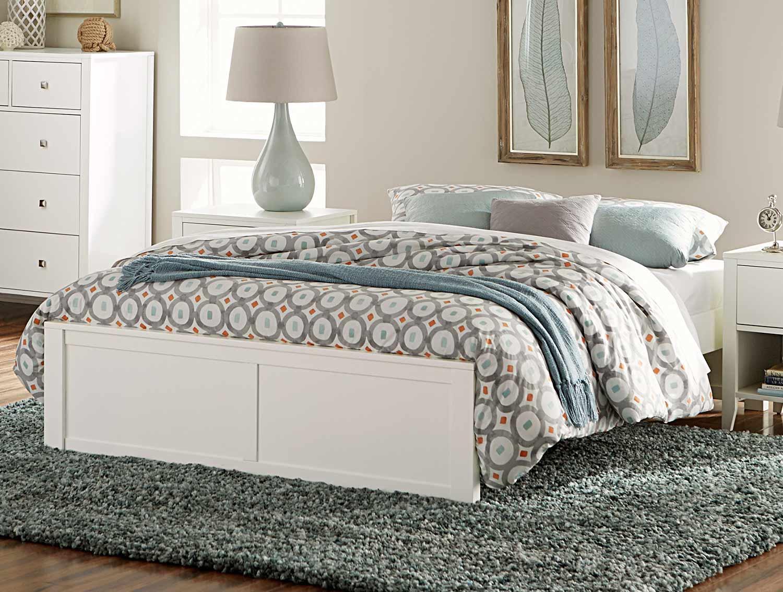 NE Kids Pulse Platform Bed - White