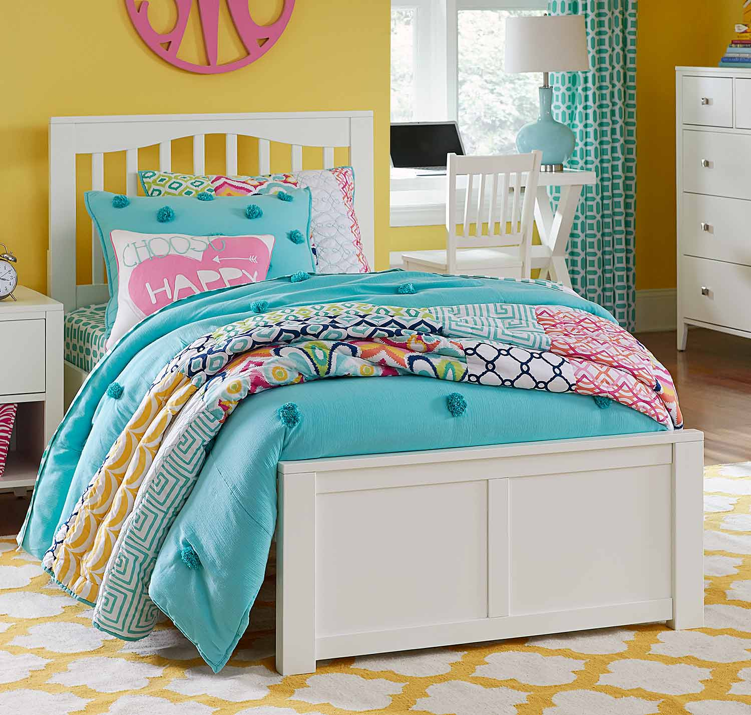 NE Kids Pulse Mission Bed - White