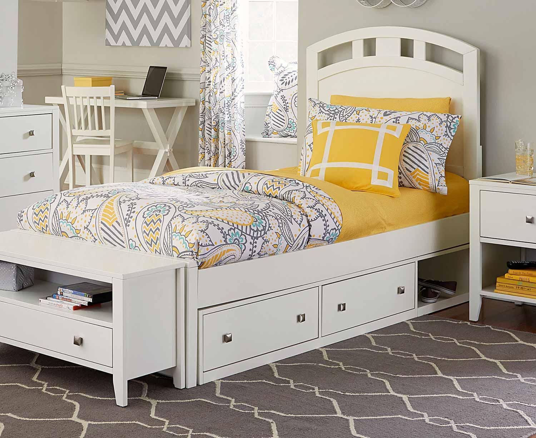 NE Kids Pulse Arch Bed With Storage - White