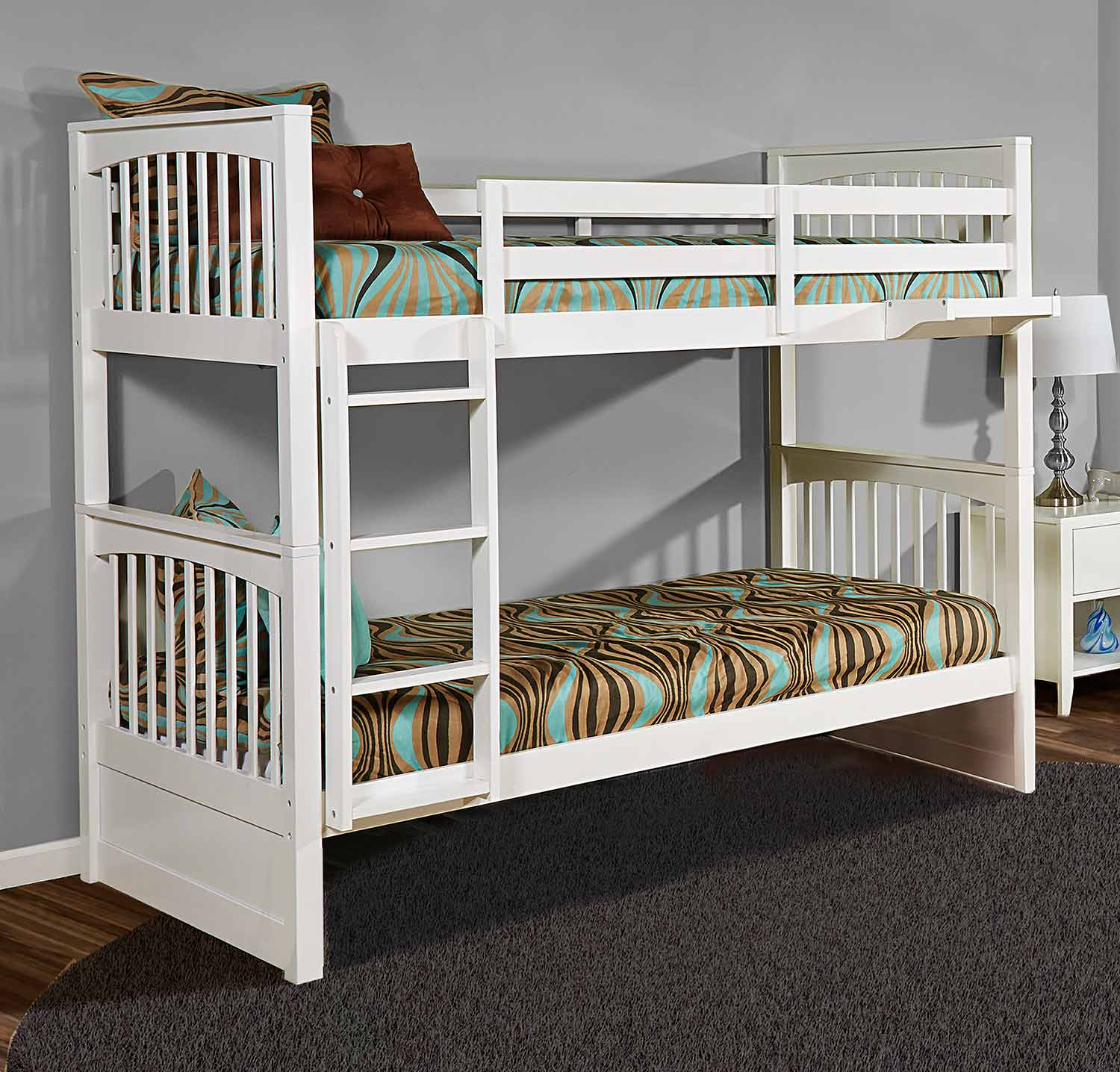 NE Kids Pulse Twin Over Twin Bunk - White