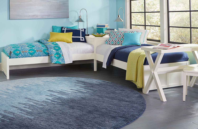 NE Kids Pulse L-Shape Bed - White