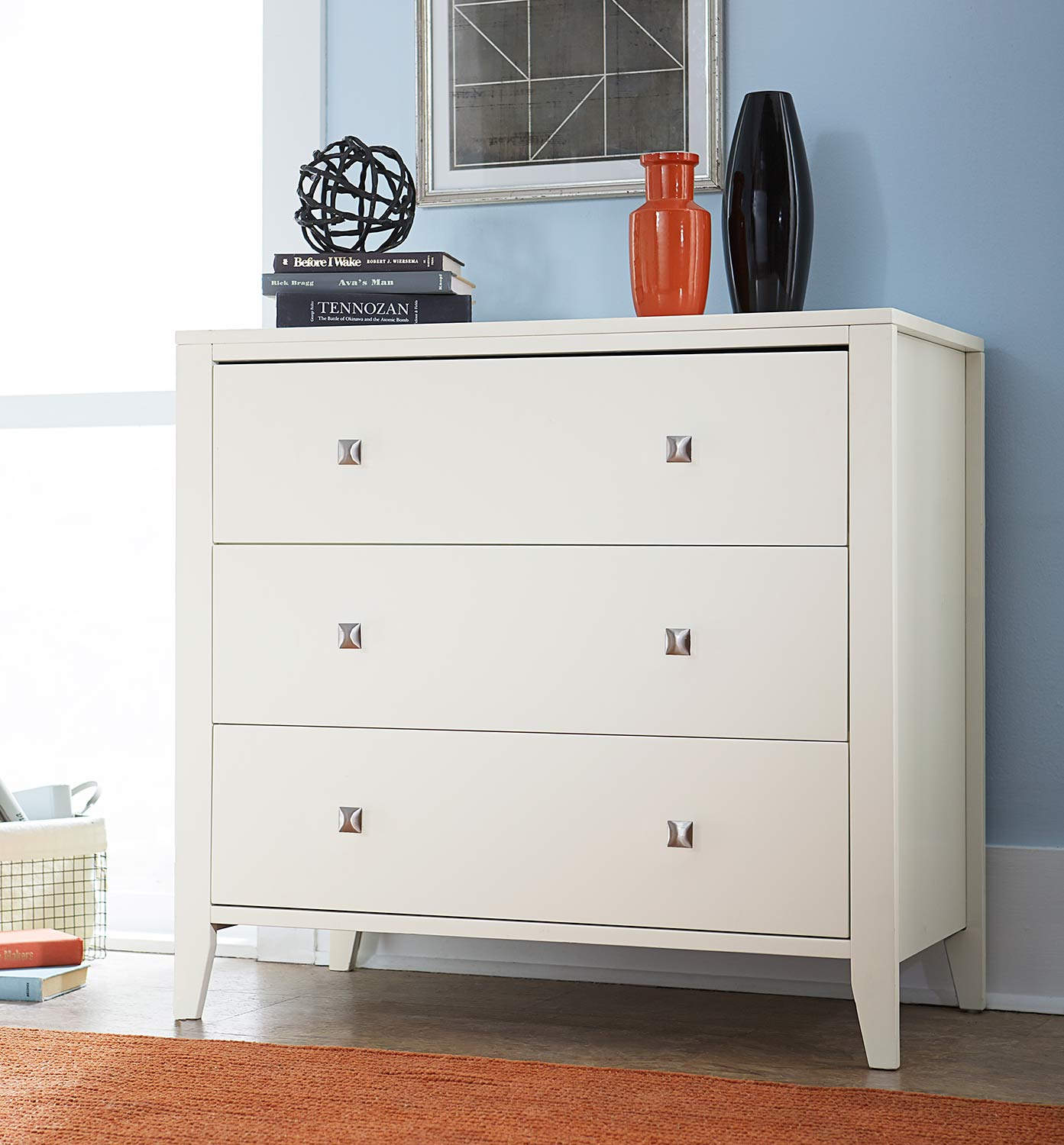 NE Kids Pulse 3 Drawer Chest - White
