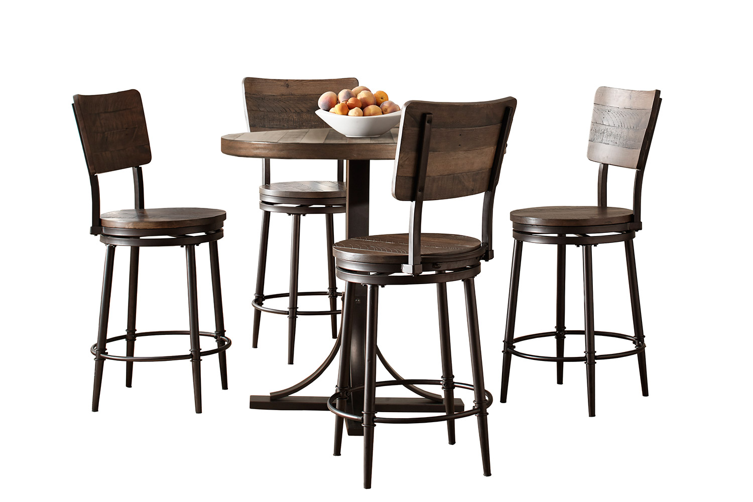 Hillsdale Jennings 5 Piece Counter Height Dining Set With
