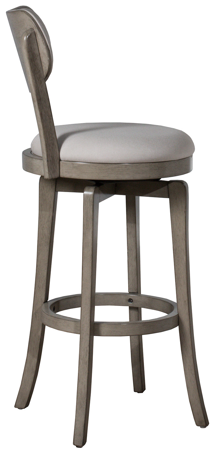 Hillsdale Sloan Swivel Bar Height Stool - Aged Gray