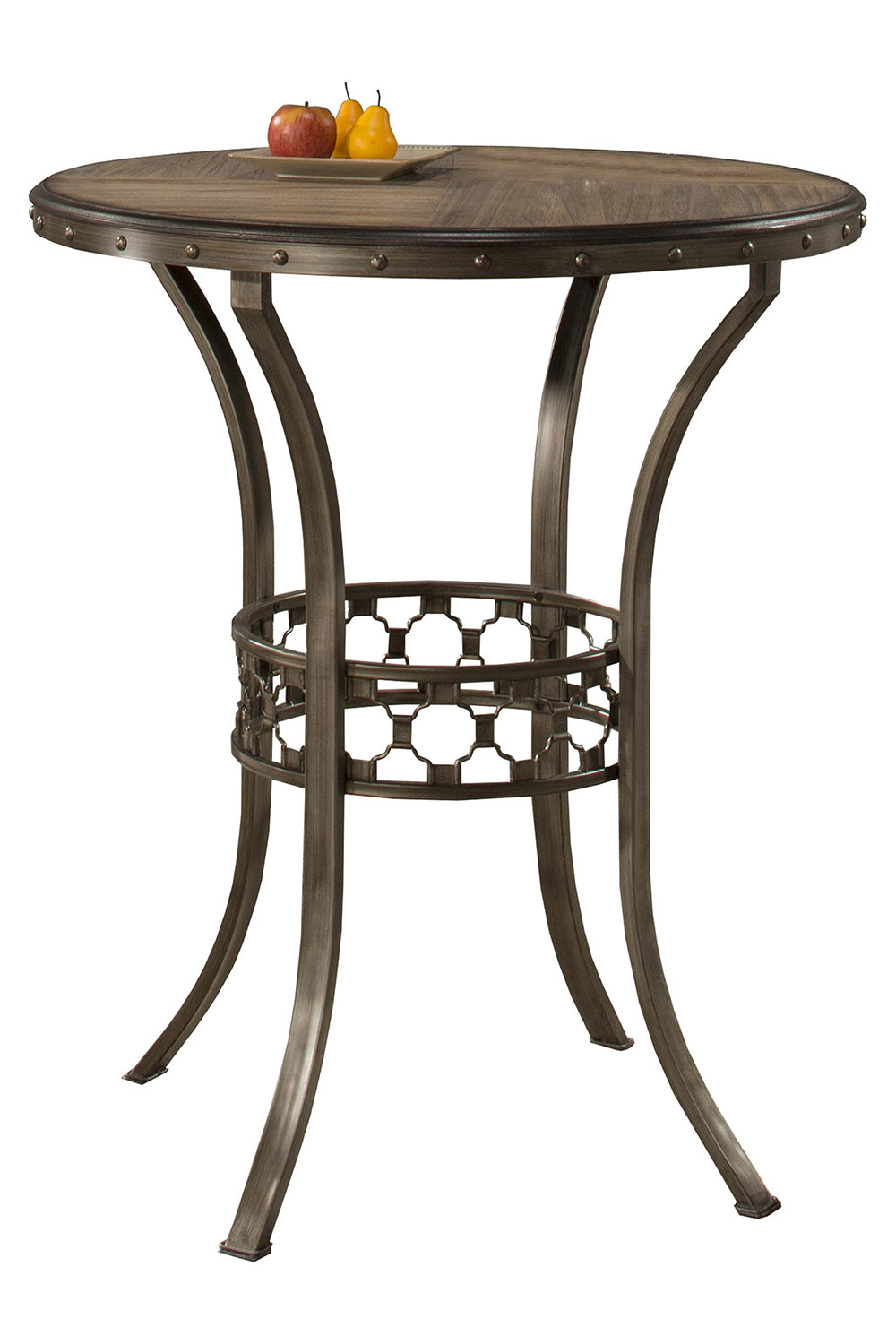 Hillsdale Lannis Bar Height Bistro Table - Brown/Grey