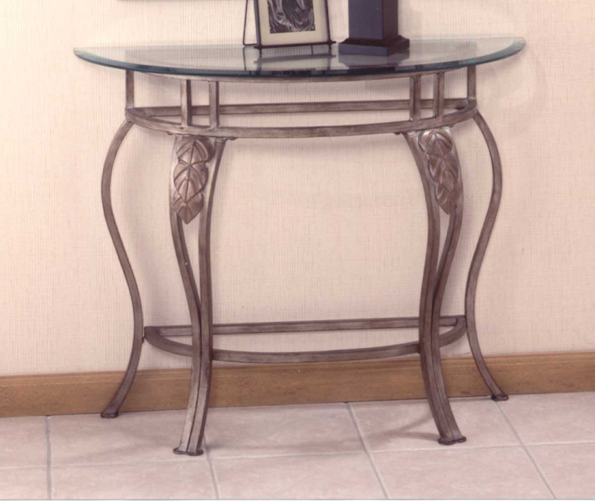 5 Console Table ~ Hillsdale bordeaux console table with glass top