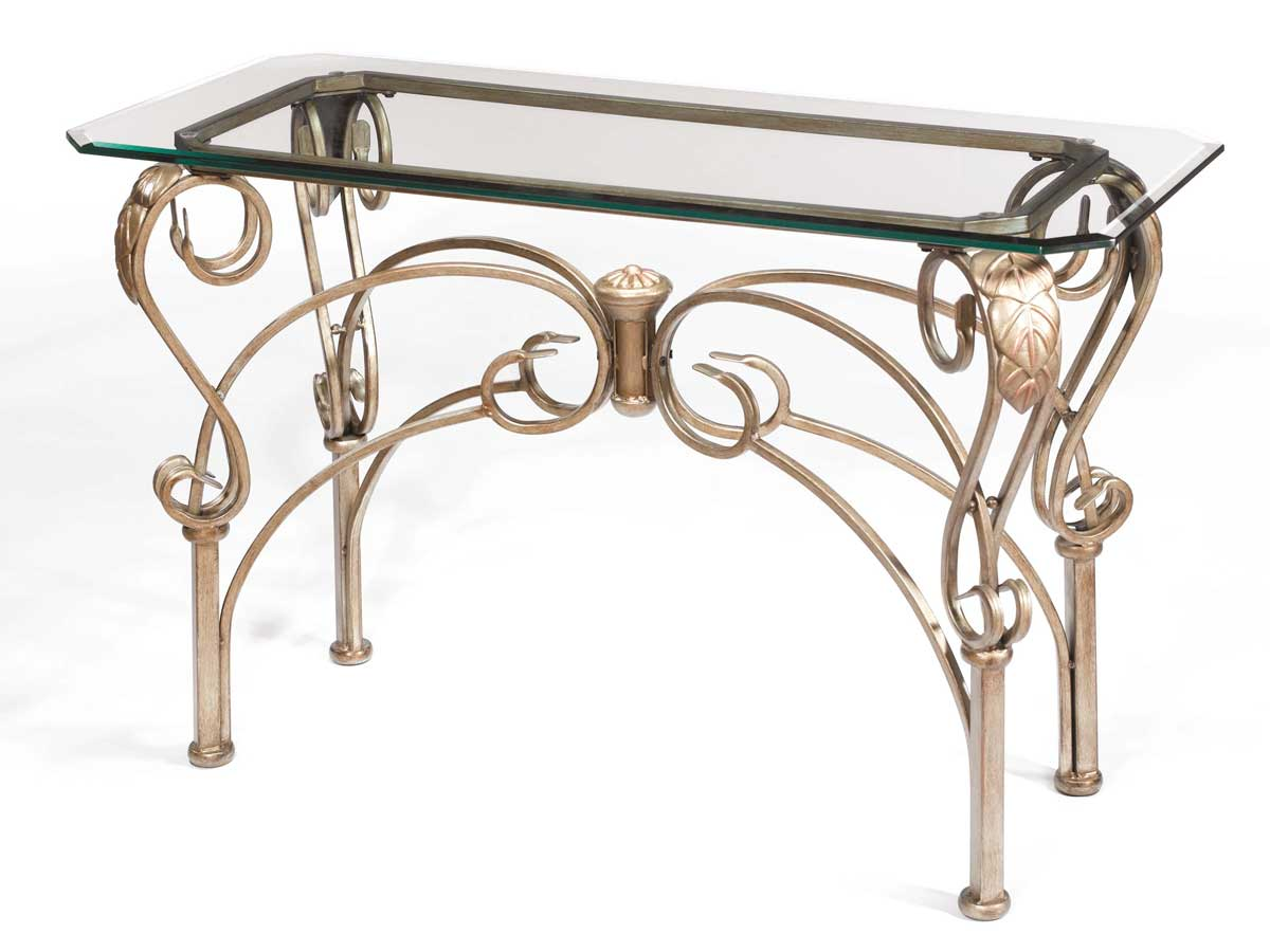 Hillsdale Bordeaux Sofa Table With Glass Top 41610 9010