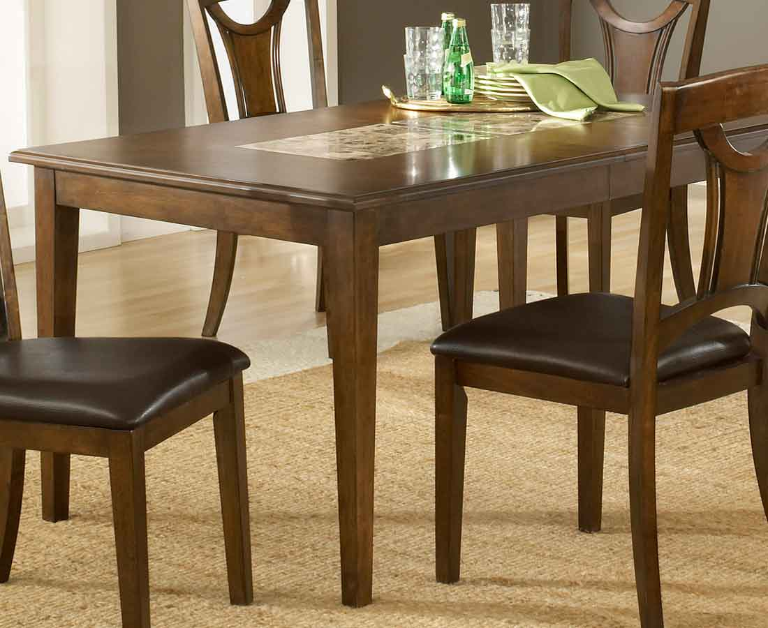 Hillsdale cannes extension marble top dining table 4175 for Table 22 cannes