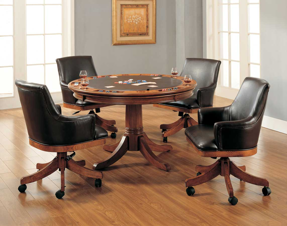 Hillsdale park view game table collection 2 4186gtbcb for Dining room game table