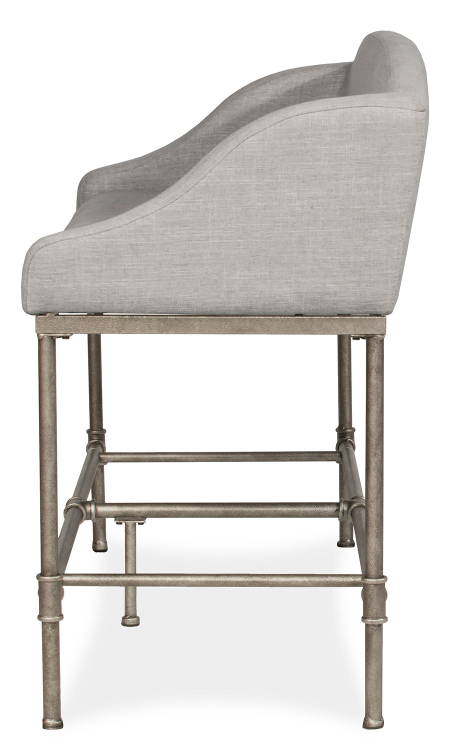 Hillsdale Dillon Counter Height Bench - Pewter