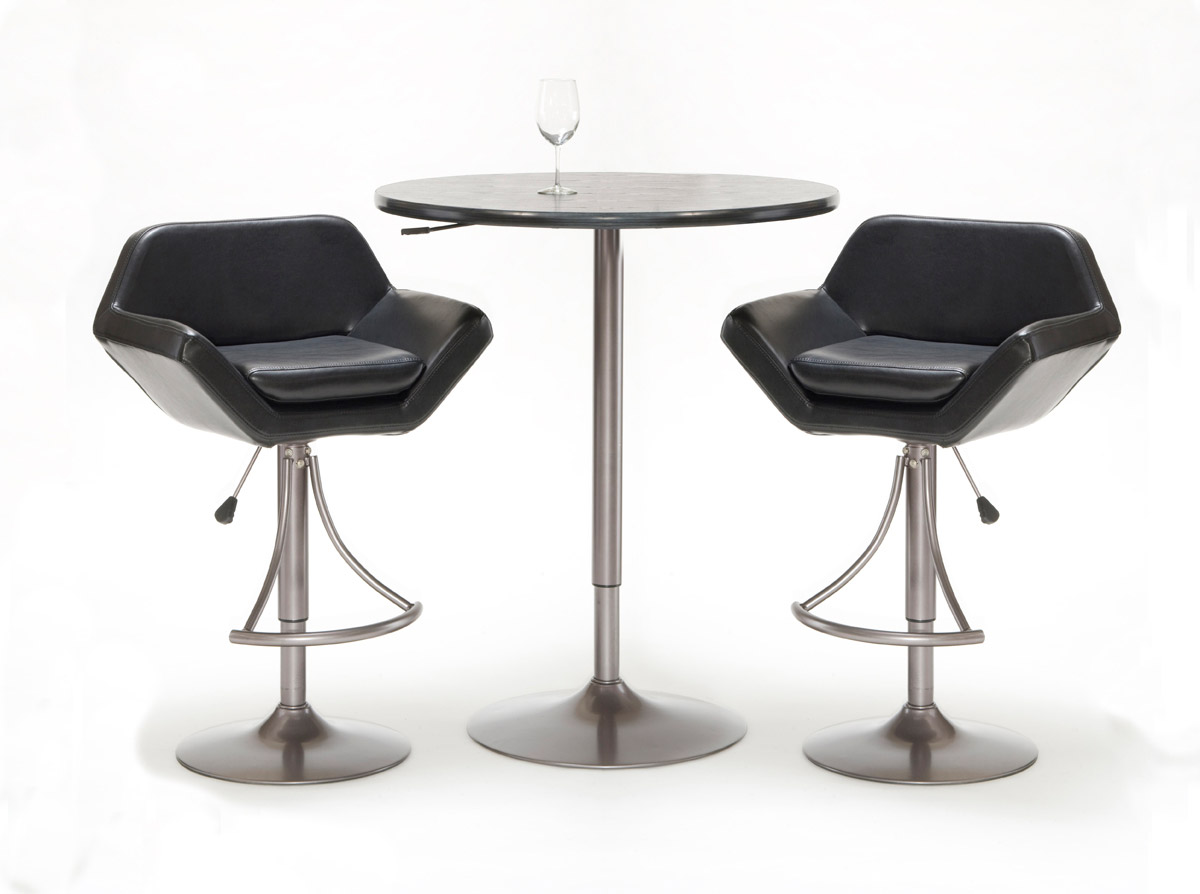 Hillsdale Valencia 3-Piece Adjustable Table and Bar Stool Set
