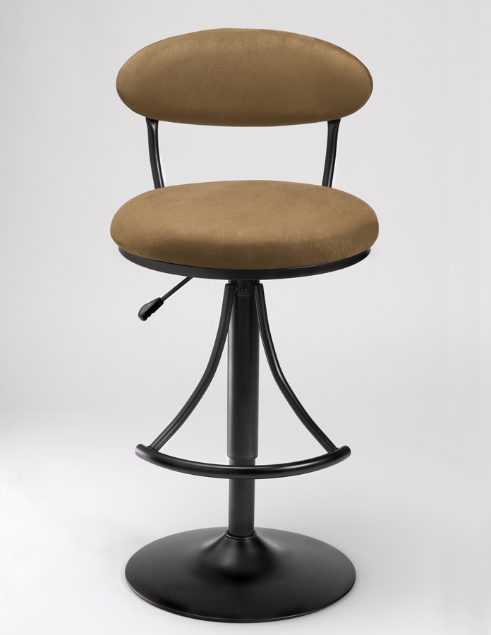 Hillsdale Venus Metal Swivel Bar Stool with Bear Suede