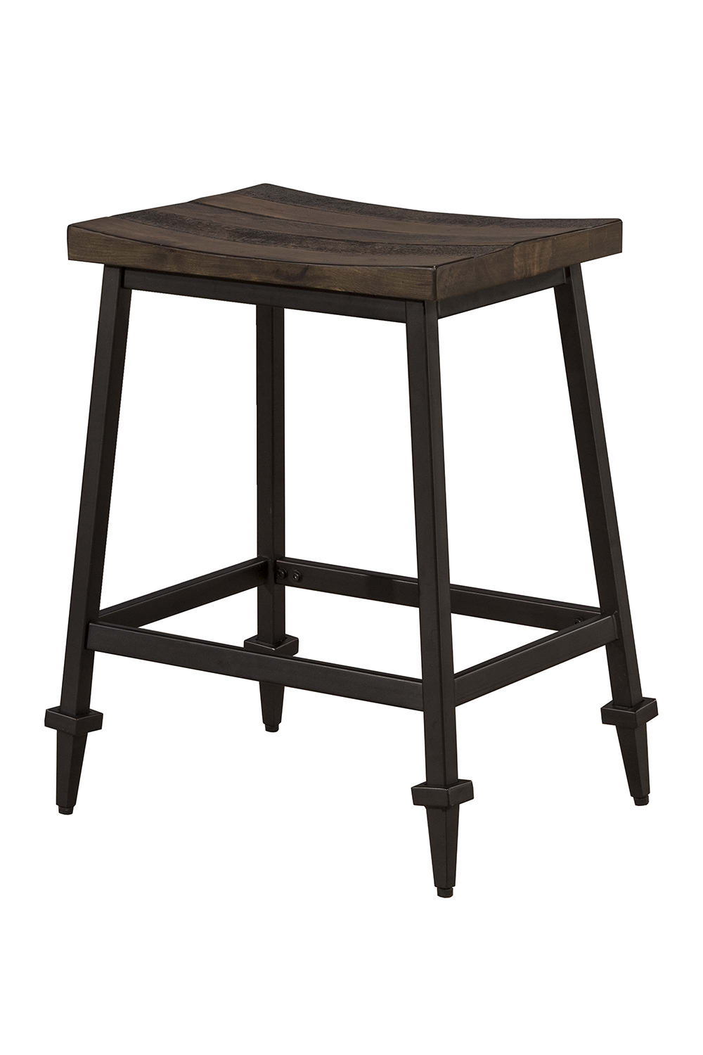 Hillsdale Trevino Non Swivel Counter Height Stool Walnut