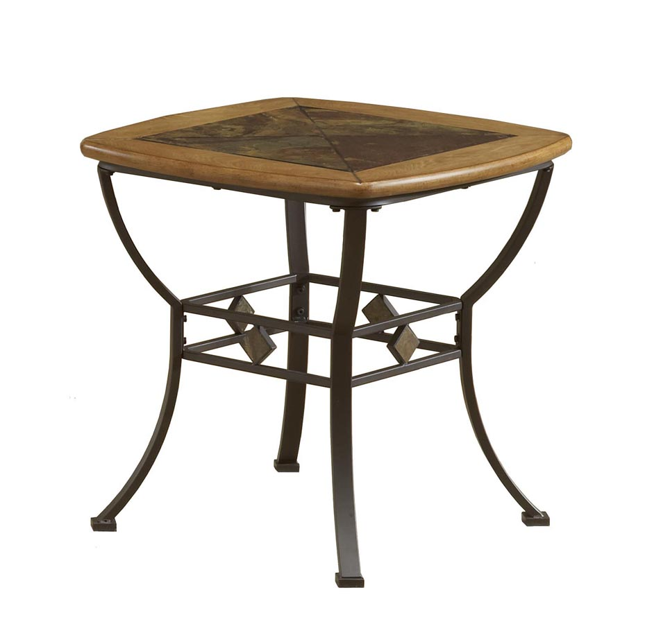 Hillsdale Lakeview End Table With Wood And Slate Top 4264