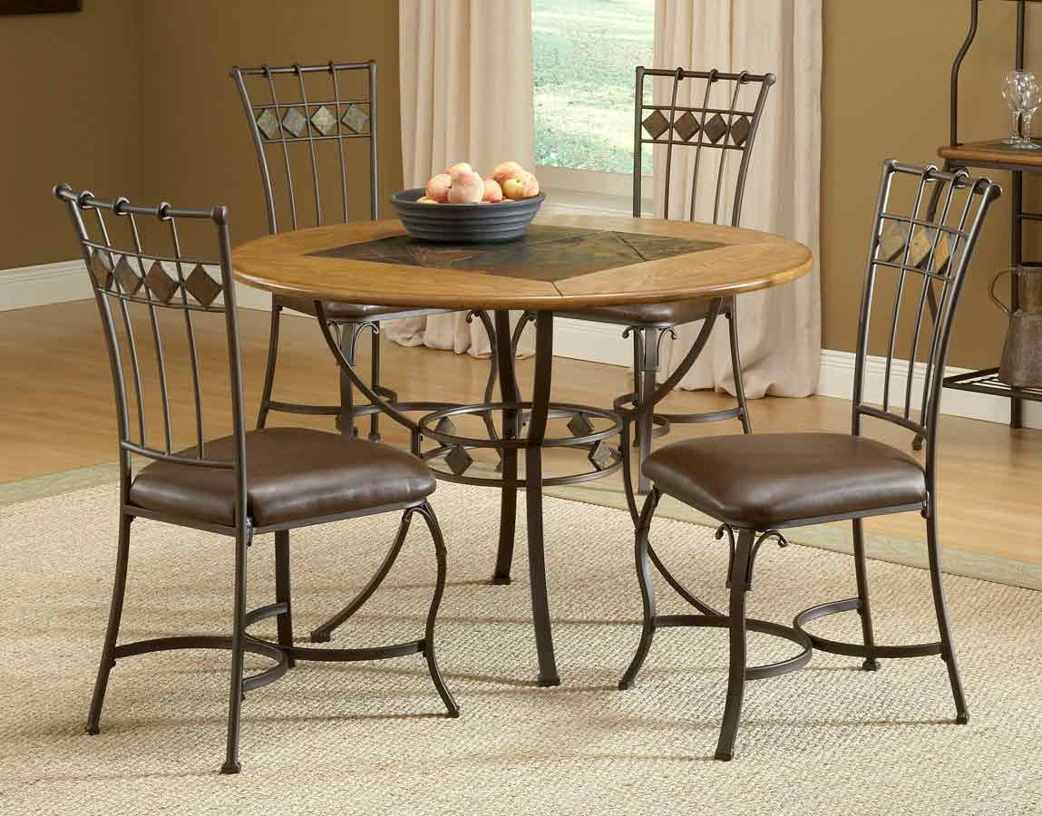 Hillsdale Lakeview Round Dining Collection With Slate Chair 4264DTBRDCS Hil