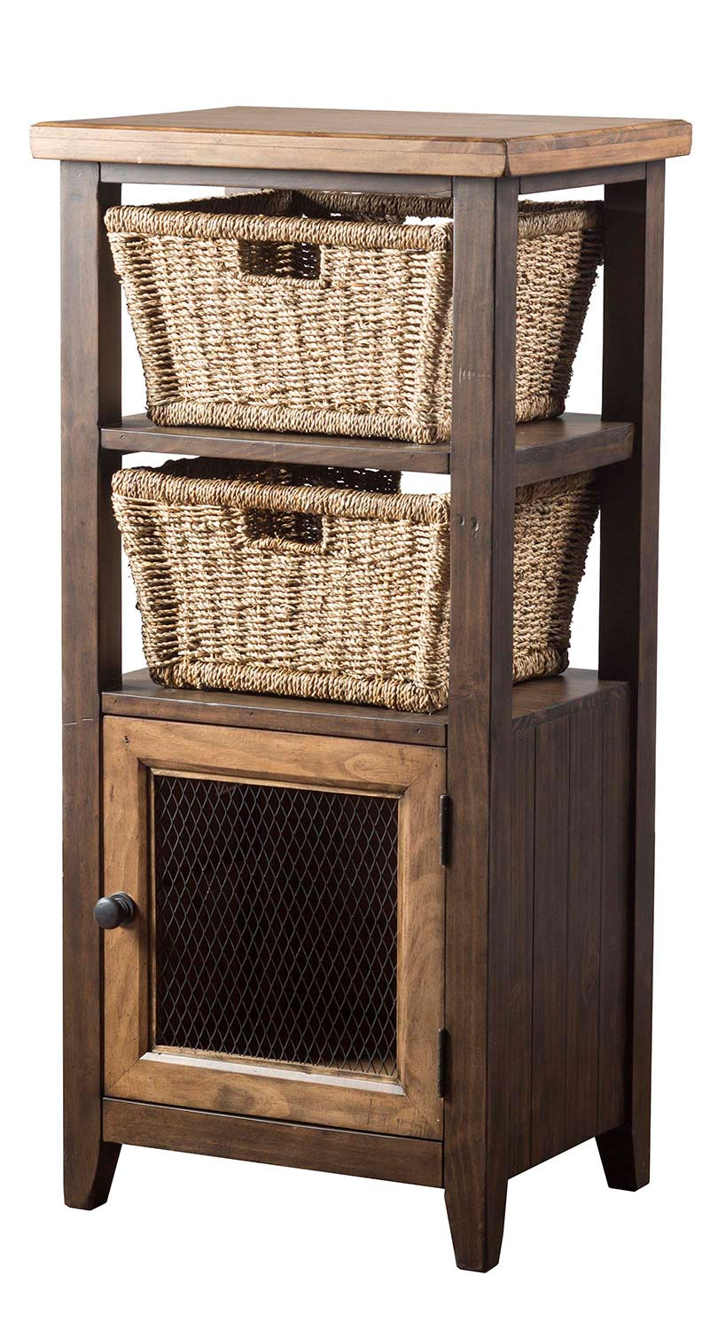 Hillsdale Tuscan Retreat Basket Stand with 2-Baskets - Faded Black