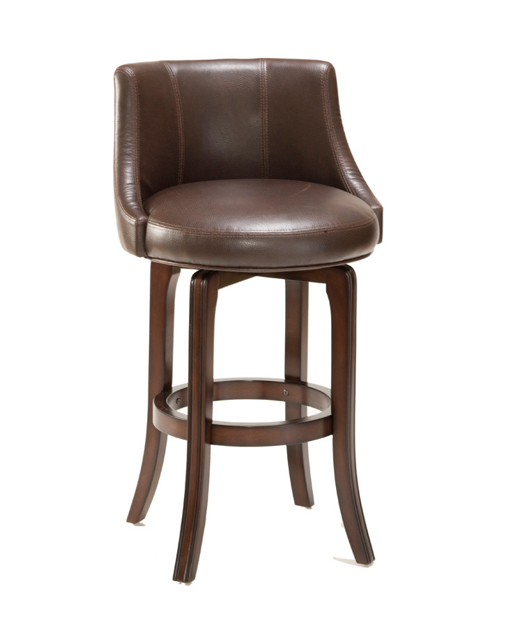 Hilale Napa Valley Swivel Counter Stool Brown Leather