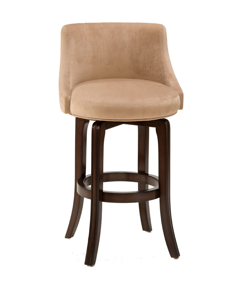 Hillsdale Napa Valley Swivel Counter Stool - Textured Khaki Fabric