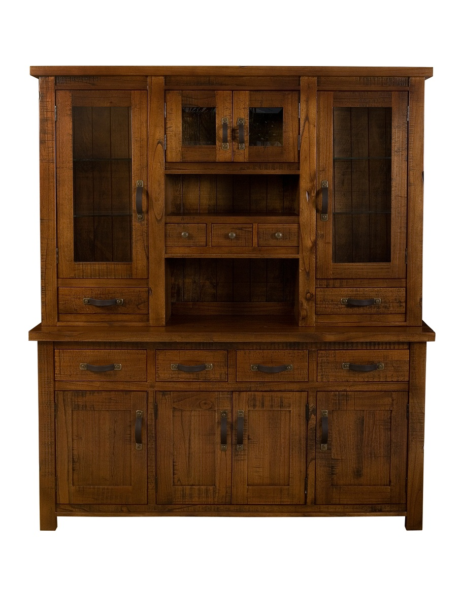 Hillsdale Outback Buffet And Hutch - Distressed Chestnut