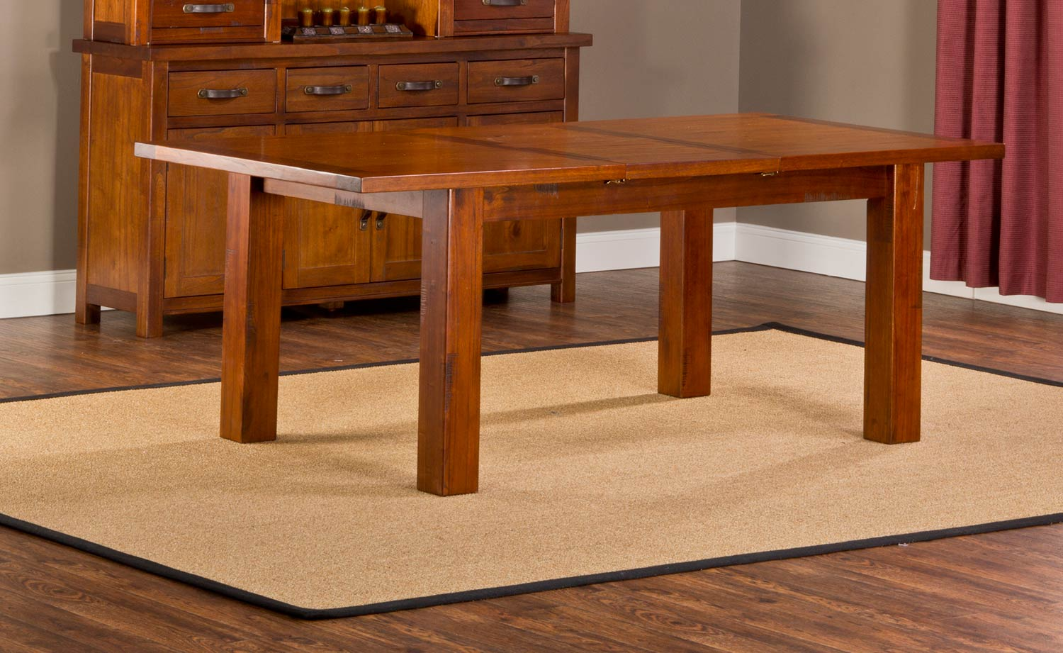 Hillsdale Outback Dining Table - Distressed Chestnut