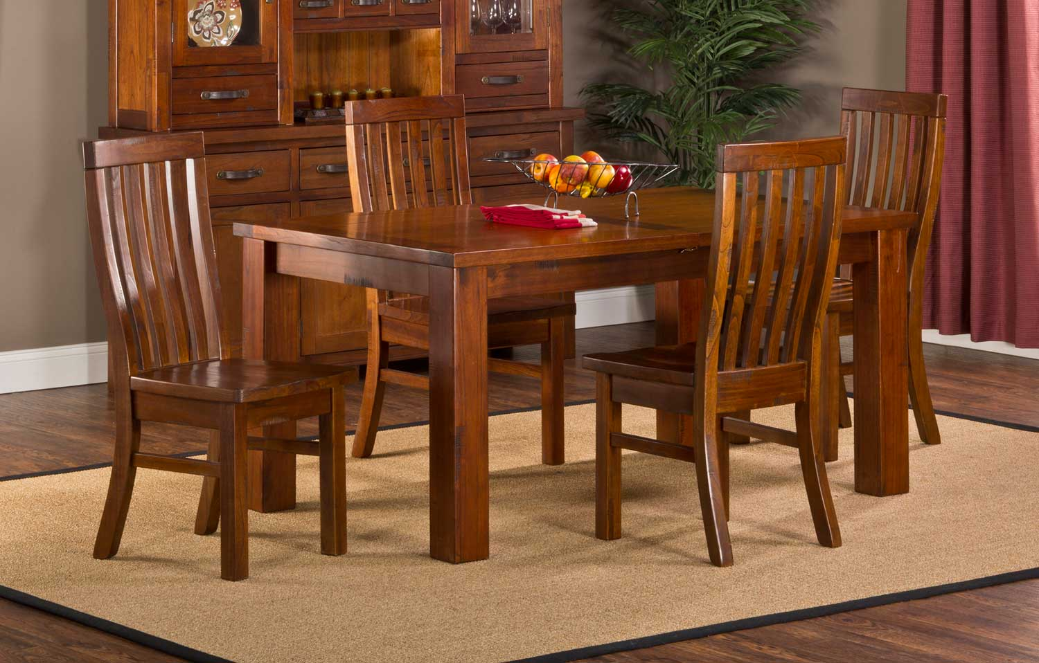 hillsdale outback 5 piece dining set distressed chestnut