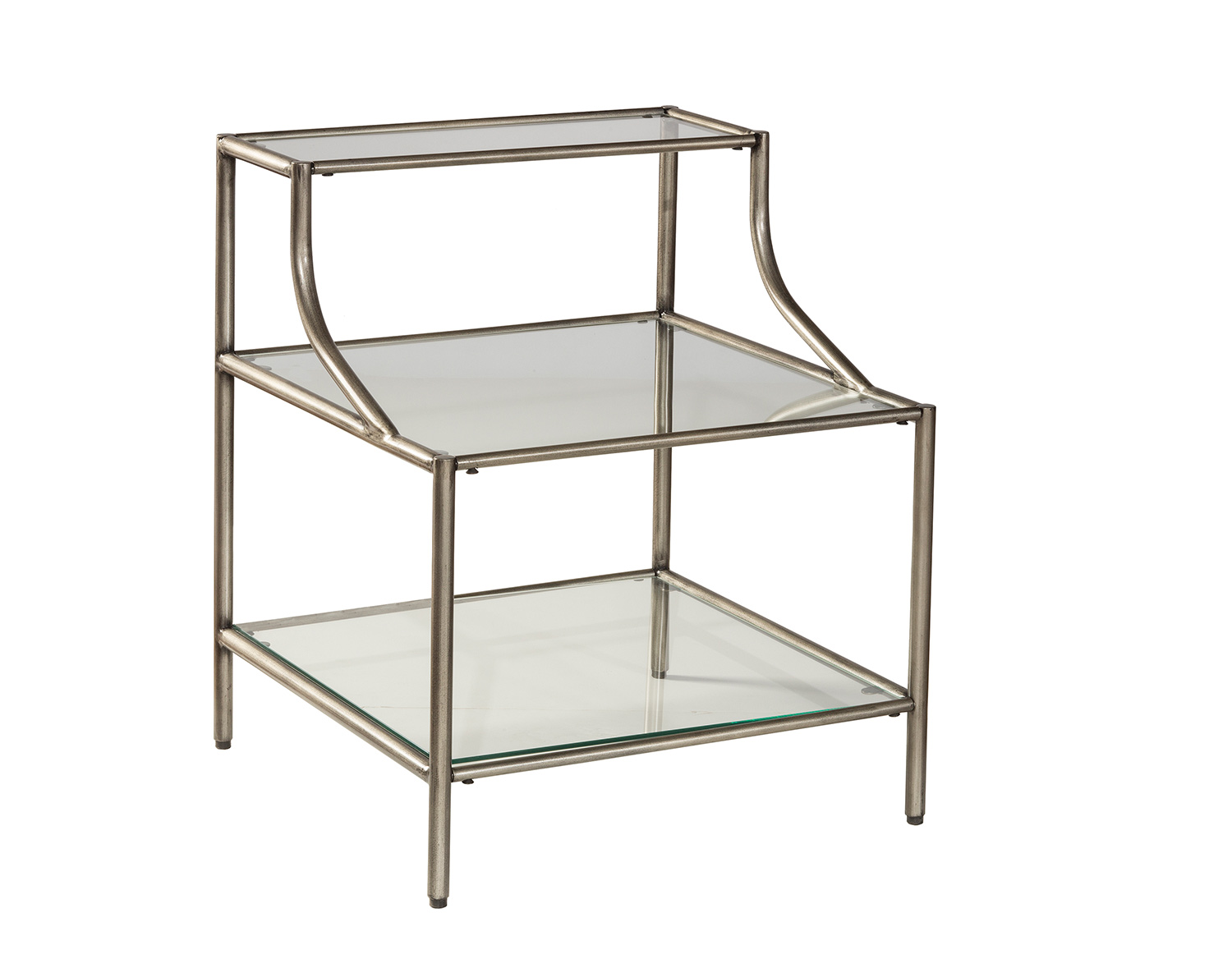 Hillsdale Corbin Step Table with 3-Shelves - Silver/Black