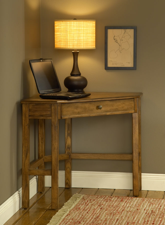 Hillsdale Solano Corner Desk Set - Oak