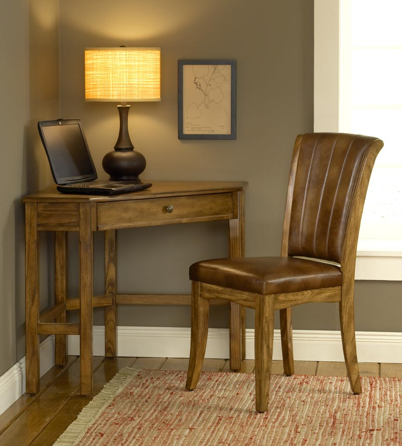 Hillsdale Solano Corner Desk Set   Oak