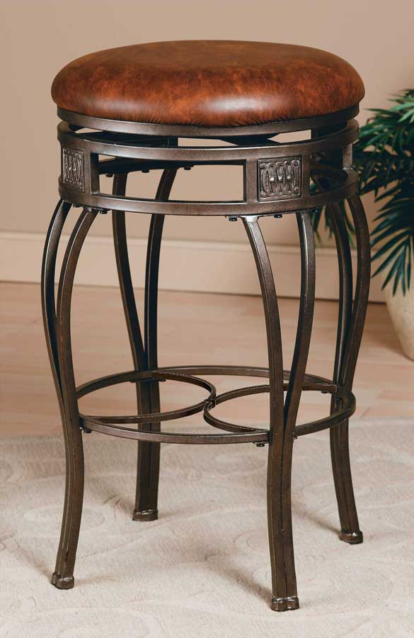 Hilale Montello Swivel Bar Stool Backless