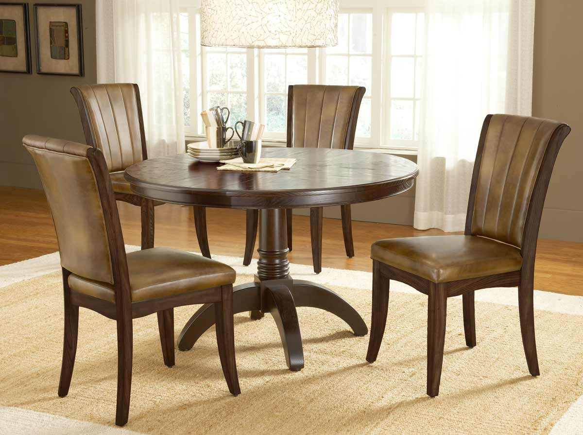 Hillsdale grand bay round dining set with dining chair for Round dining set