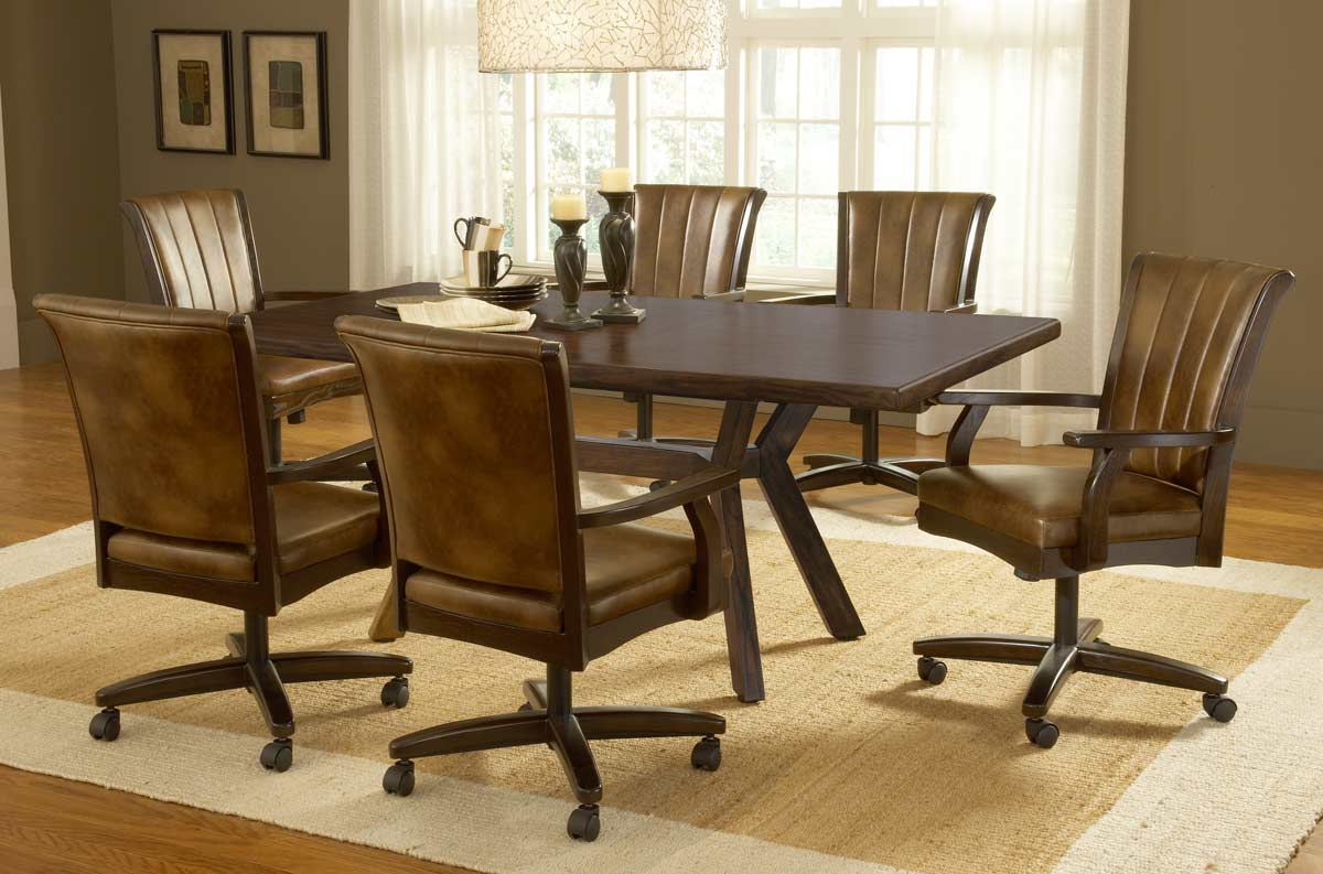 Hillsdale Grand Bay Rectangle Dining Set With Caster Chair