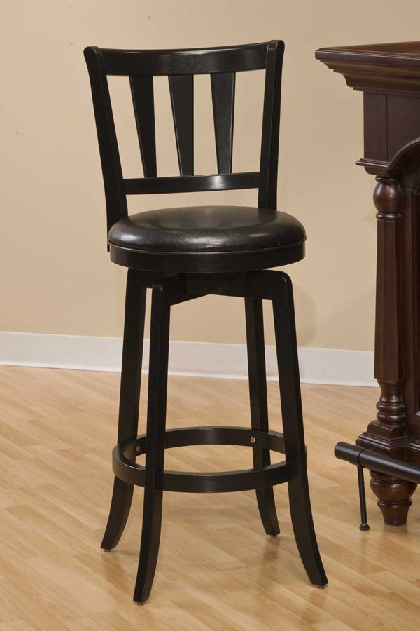 Hillsdale Presque Isle Swivel Counter Stool - Black