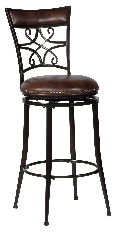 Stupendous Hillsdale Seville Swivel Counter Stool Brown Shimmer Creativecarmelina Interior Chair Design Creativecarmelinacom