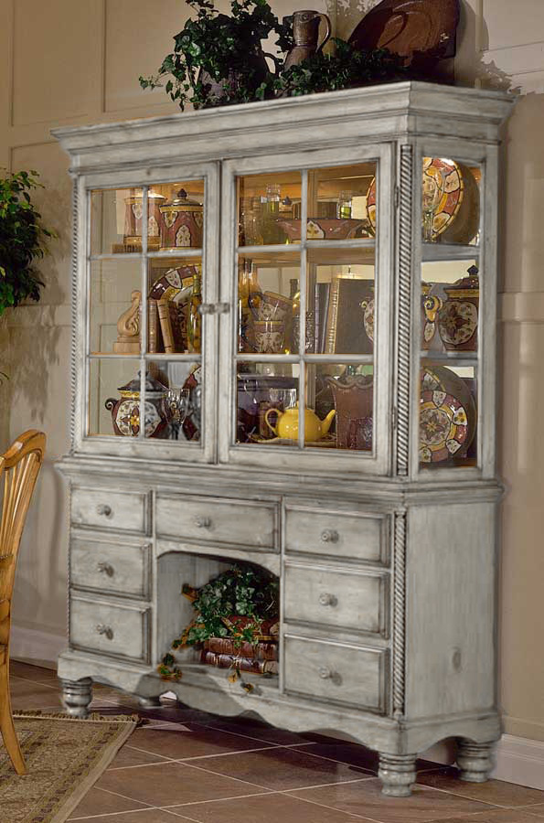 Hillsdale Wilshire Buffet And Hutch Antique White 4508