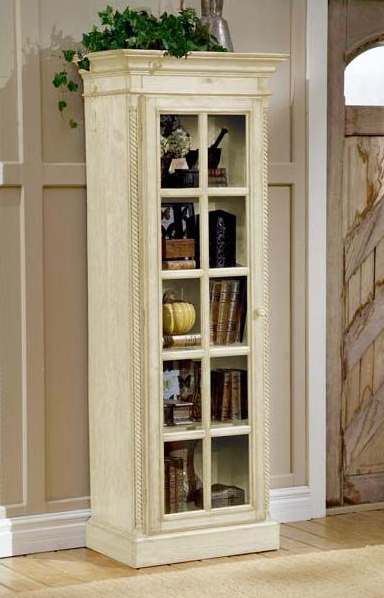Hillsdale Wilshire Small Library Cabinet   Antique White