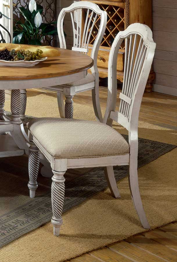 Hillsdale Wilshire Side Chair - Antique White