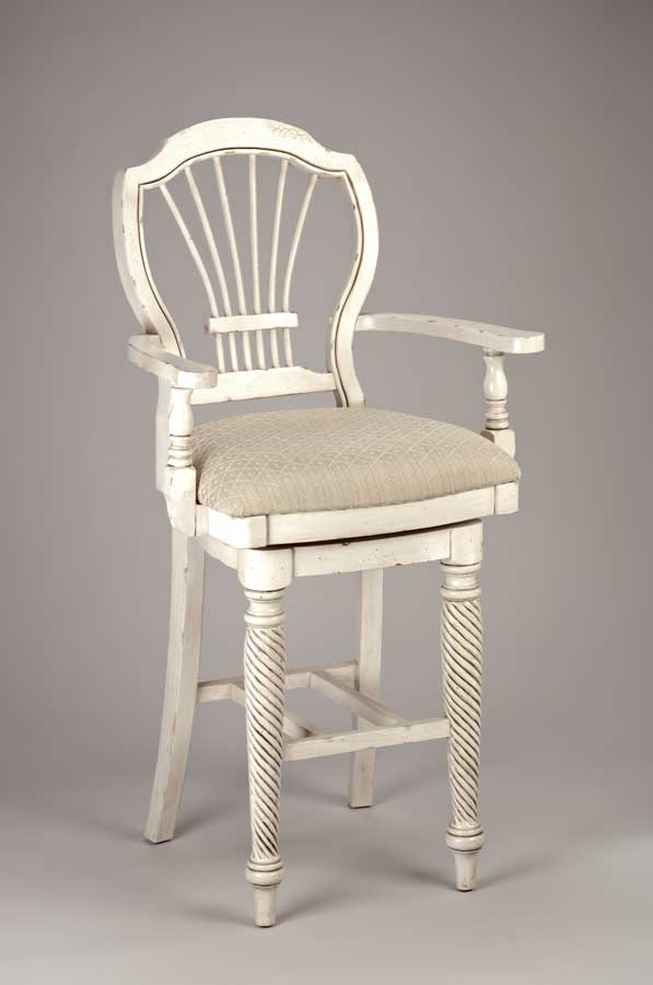 Hillsdale Wilshire Swivel Wood Bar Stool with Arms - Antique White & Hillsdale Wilshire Swivel Wood Bar Stool with Arms - Antique White ... islam-shia.org