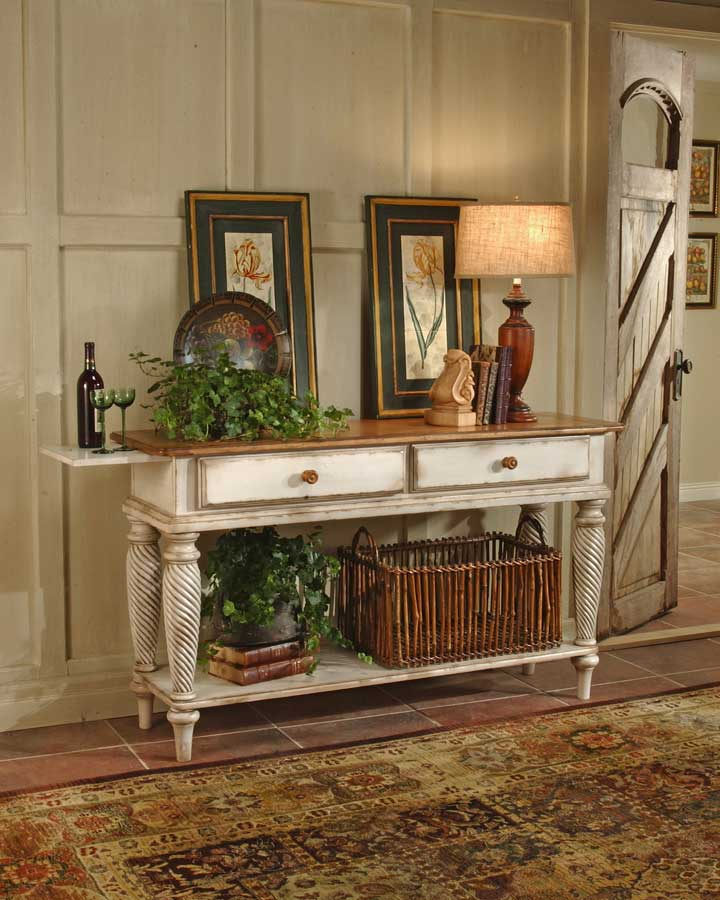 Hillsdale Wilshire Sideboard Table   Antique White