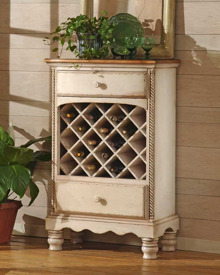 Hillsdale Wilshire Wine Rack Antique White 4508 858