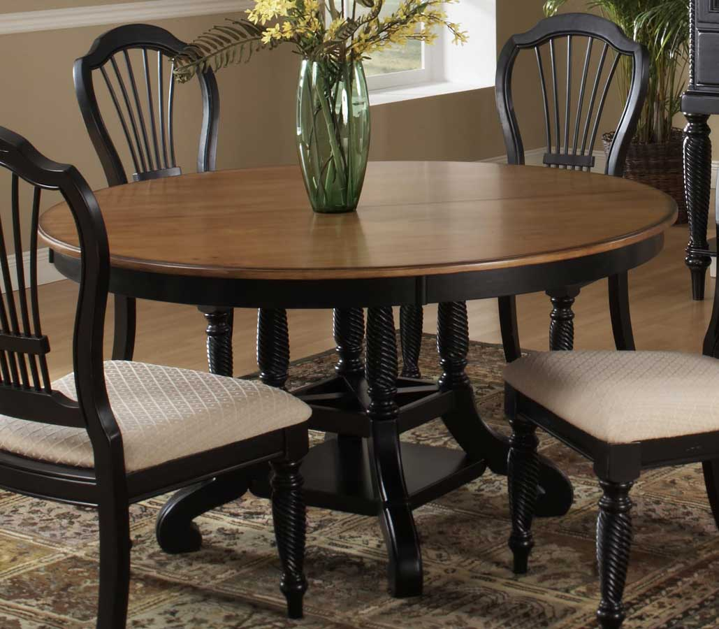 hillsdale wilshire round oval dining table rubbed black - Oval Dining Room