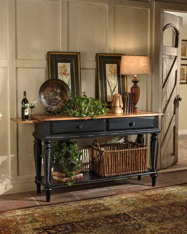 Wilshire Sideboard Table   Rubbed Black